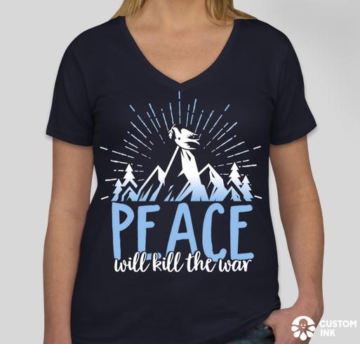 Peace will kill the war t-shirt
